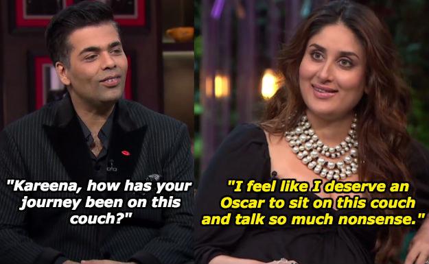 When Kareena wanted credit for making Karan Johar's chat show a perennial success.