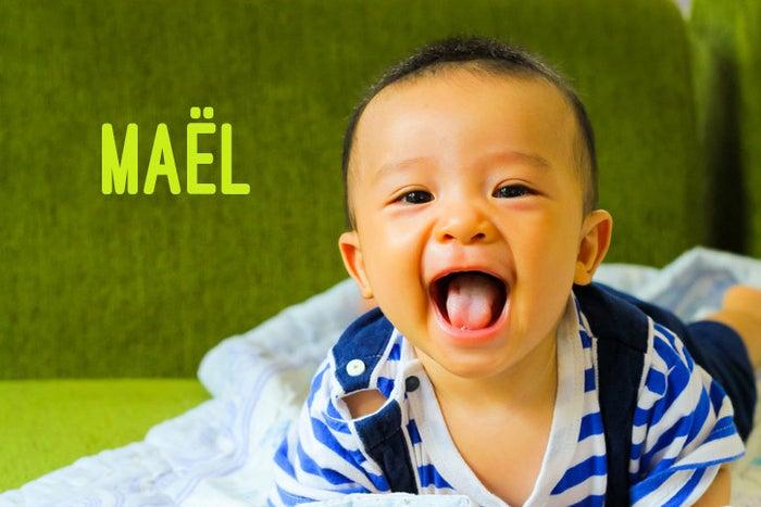 """Maël (Maëlle für Mädchen) ist ein alter Name aus der Bretagne, welcher """"Prinz"""" bedeutet."""