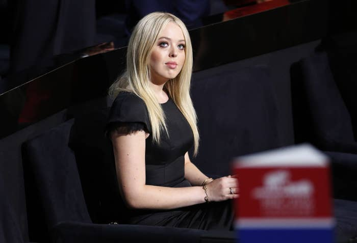 """She's the daughter of his second marriage to Marla Maples. (He also has a son, Barron, with current wife Melania). After her parents split up, Tiffany grew up mostly in California with her mom, so didn't get to live near her dad in New York City.On Election Day the president-elect raised eyebrows when he said he was proud of Tiffany """"to a lesser extent"""" than his other children.""""I'm very proud, because Don and Eric and Ivanka and — you know, to a lesser extent 'cause she just got out of school, out of college — but, uh, Tiffany, who has also been so terrific. They work so hard,"""" he told Fox News."""
