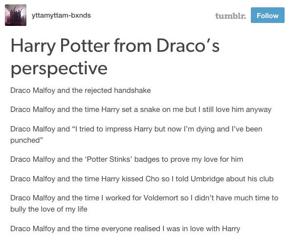 21 Things Draco Malfoy Should've Said In