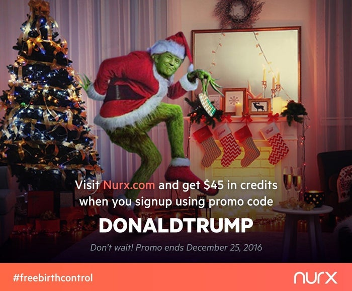 An ad for Nurx's December promotion.