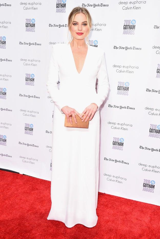 The beautiful, talented, beautiful, smart, Australian, amazingly beautiful, perfect, Margot Robbie.