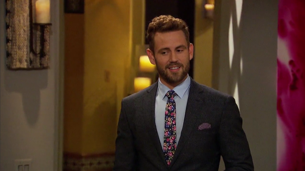 Nick sports his best floral tie to break the news to the rest of the women that he and Liz had sex, and it actually goes over pretty well.