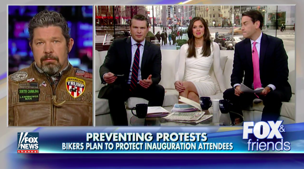 """""""We have guys coming in right now driving across Texas, Arizona...guys left San Diego two days ago, large groups coming in from Florida...Pennsylvania has busloads coming in...Ohio, New York, you name it we got bikers coming in to town,"""" Cox told Fox & Friends on Saturday."""