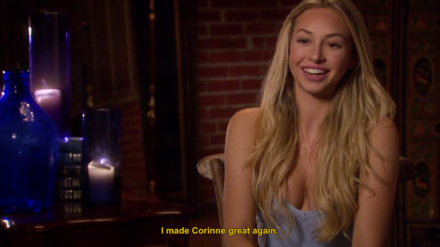 Corinne, however, doesn't miss her last chance to cement her status as our resident Ivanka Trump wannabe.