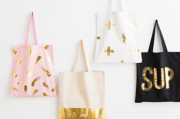 Love gold foil so much, you want to wear it? Totally fair, but you'll have to use gold transfer foil, instead.