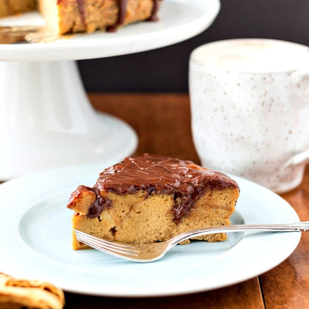 Donut Bread Pudding with Coffee Custard