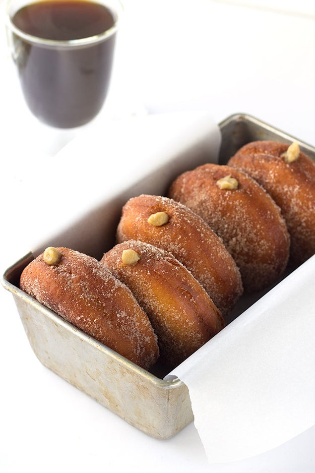Coffee Custard Donuts