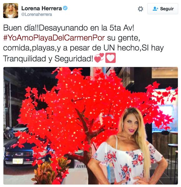 Hasta Lorena Herrera, que se encontraba en la ciudad cuando sucedió el incidente, compartió su amor.