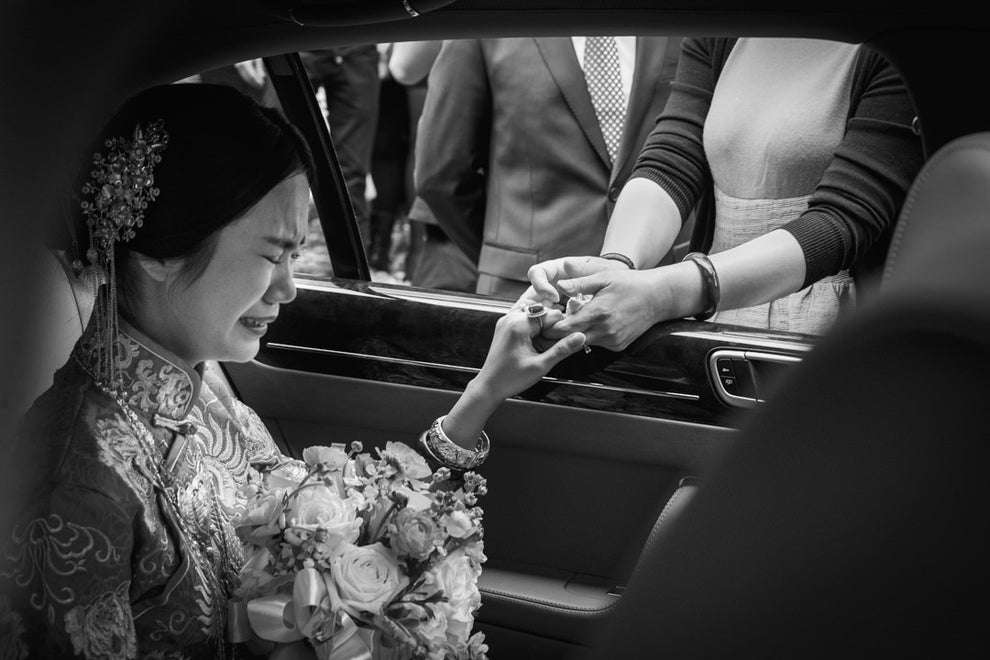 This bride feeling all of the feels.