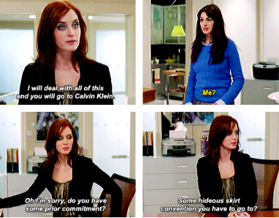 When Emily roasted Andy for her sartorial choices:
