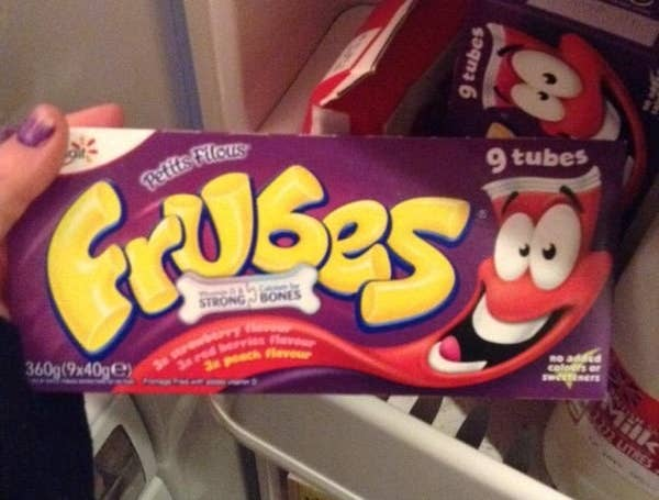 There's no dignified way of eating a Frube while making eye contact with another human being.