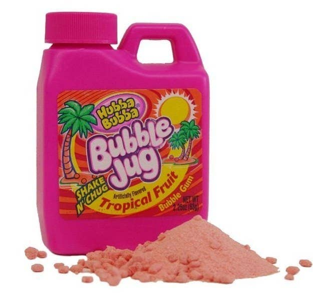 It was bubble gum, but in powder form? So many questions remain.