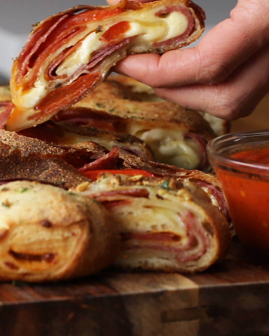 Cheesy Pizza Roll-Up