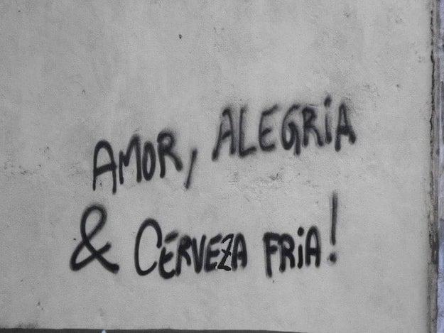 El grafitero de la cuadra quería descubrir el sentido de la vida.