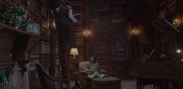 Look at how gorgeous the library is in the Baudelaire mansion.