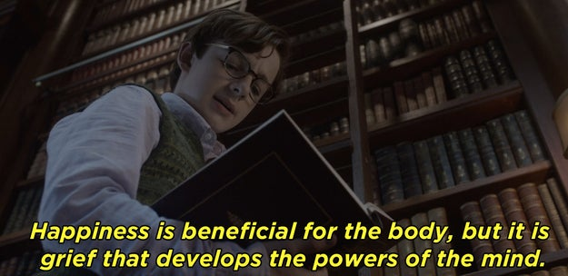 From the first few minutes of A Series of Unfortunate Events, the Netflix show is filled with books and literary references, like when Klaus recites this Proust quote.