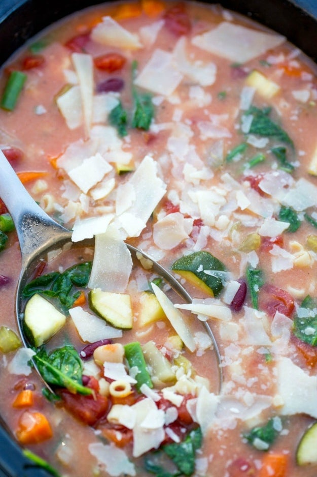 Slow Cooker Creamy Minestrone Soup