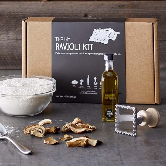 A gourmet porcini mushroom ravioli kit for any self-proclaimed fungi.