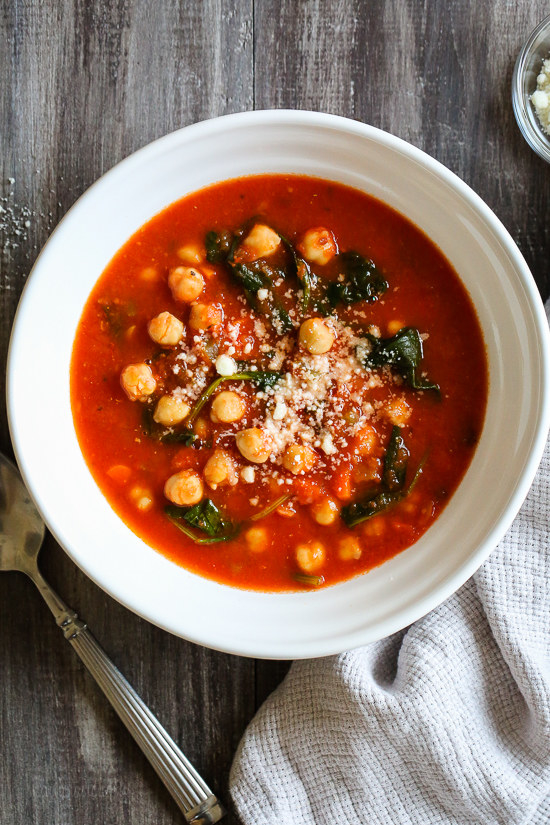 Chickpea Tomato Soup With Rosemary