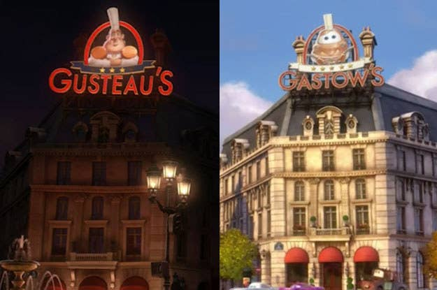 """For the record, that's Ratatouille on the left and Cars 2 on the right. (Also, LOL, """"Gastow's"""" has more stars.)"""