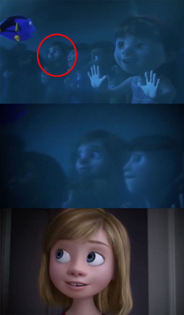 There are new Easter eggs like Inside Out's Riley making a quick cameo in Finding Dory...