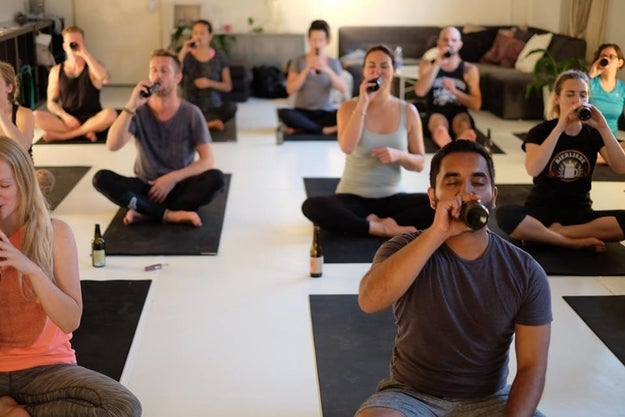 Bieryoga is a traveling yoga class based in Berlin, Germany, that as its name implies, combines yoga and beer in one interesting experience.