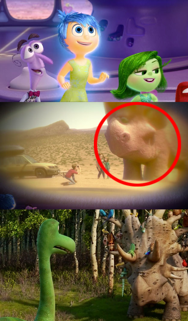 ...or the the Inside Out connection to Forrest Woodbush from The Good Dinosaur.