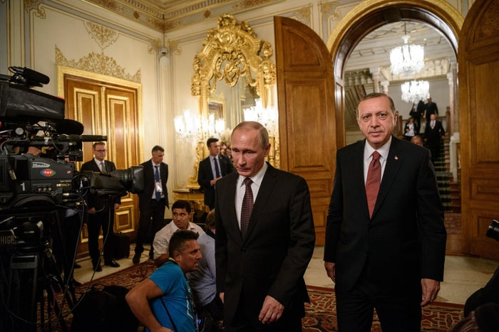 Putin and Turkish President Recep Tayyip Erdogan in October 2016.