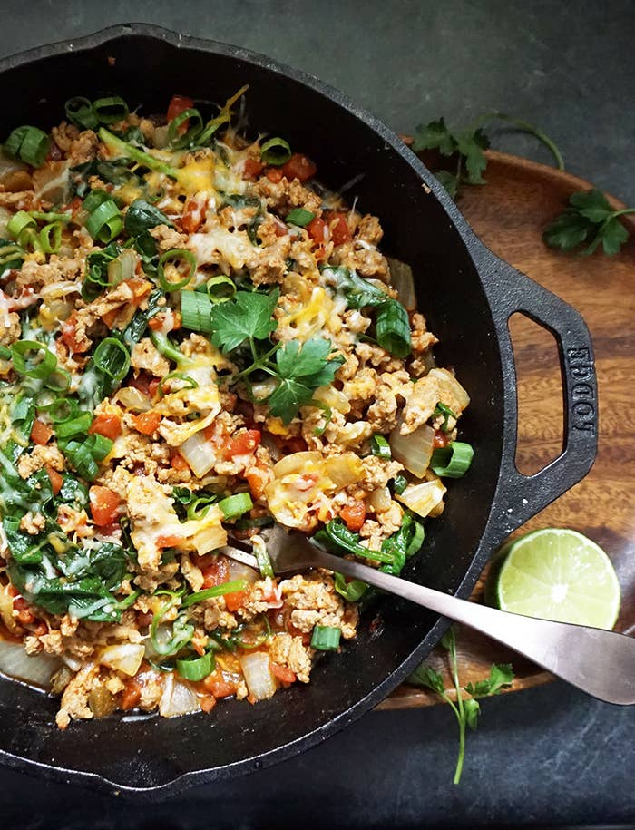 Try swapping this recipe in for a healthier Taco Tuesday. It will not disappoint. Get the recipe here.