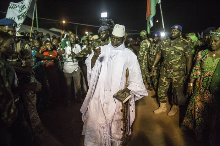 President Yahya Jammeh was running for a fifth term in power and everyone, both inside and out of the country, assumed that it would be smooth sailing for him, given his dictatorial control. Far from being just an eccentric, rights groups accuse his government of being behind an untold number of cases of arbitrary imprisonment, torture, and enforced disappearances.