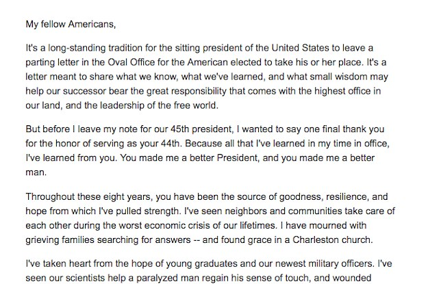 People Are Emotional After Reading A Thank You Letter From President