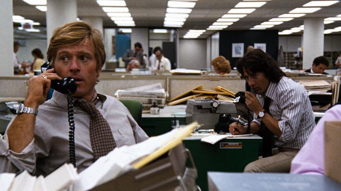 Robert Redford and Dustin Hoffman star as Bob Woodward and Carl Bernstein, respectively, the Washington Post reporting duo who investigated and uncovered the Watergate scandal.Watch now on: HBO Go, YouTube, iTunes