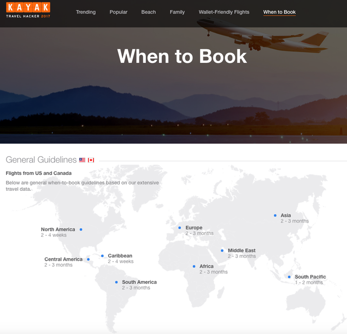 Check out Kayak's 2017 Travel Hacker here, and sign up for price alerts here.
