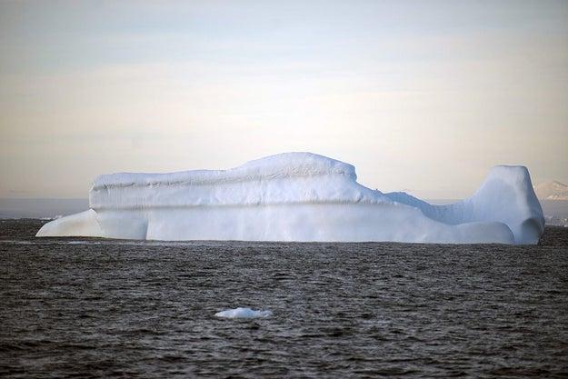 Antarctica has as just as much ice as the Atlantic Ocean has water.