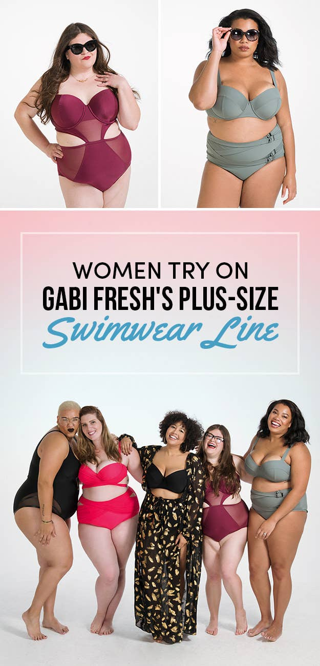 3c5b6c63250 We Tried On Gabi Fresh s New Swimsuit Line For Plus-Size Gals