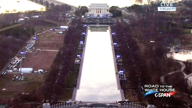 Here's the crowd outside the Lincoln Memorial on Thursday for a concert celebrating President-elect Donald Trump's upcoming inauguration.