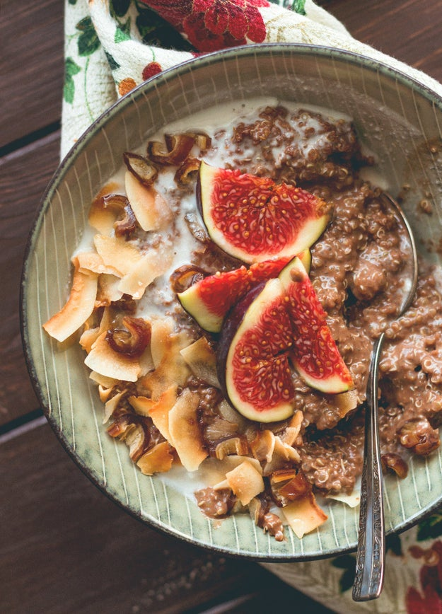 Gingerbread Quinoa Porridge with Toasted Coconut