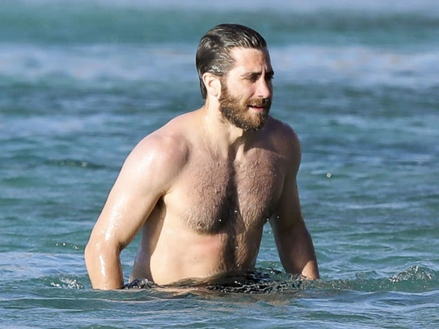 9 Pictures Of Jake Gyllenhaal And His Furry Chest At The Beach