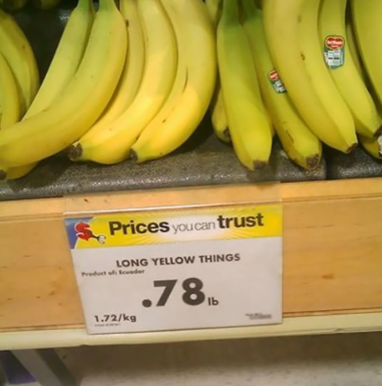 Delicious long yellow things.