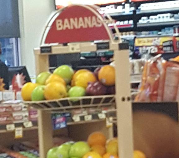 So many colorful bananas.