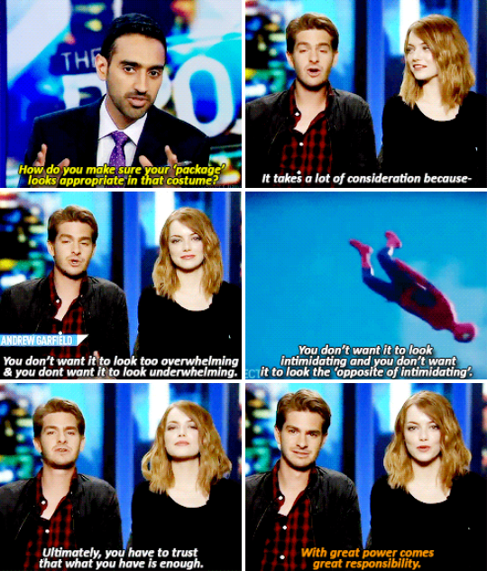 And when he had some very important things to think about when it came to his Spidey-suit.