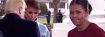 People Can't Stop Laughing At Michelle Obama's Face When She Got A Gift From Melania Trump