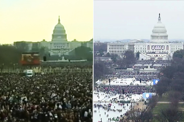 Here's A Crowd Comparison Of Trump's Inauguration With Obama's