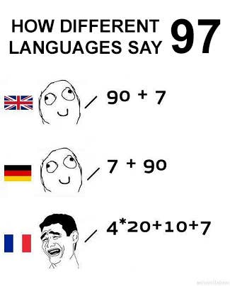 16 times the french language was just too much the french way of counting is lets say solutioingenieria Image collections