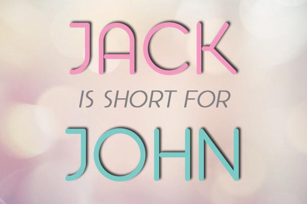 Jack = John