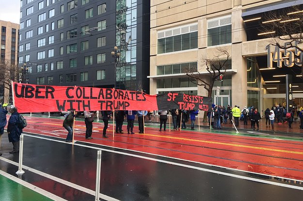 People Are Protesting Outside Uber HQ Because Travis Kalanick Is