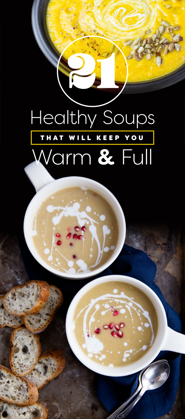 Just in case you're looking for healthier, heartier recipes while you're hibernating for the winter, we rounded up recipes full of delicious, whole ingredients, plenty of protein to keep you full, and less sodium and sugar than canned soup.