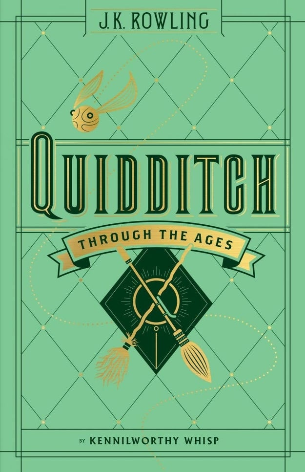 The timeless cover design of Quidditch Through the Ages is nearly as alluring as a within-reach golden snitch.