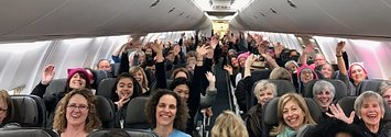 Flights Packed With Women's March Participants Are Celebrating All The Way To DC